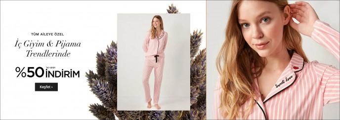 LC Waikiki'de Tüm Aileye Özel Pijama Takımlarında %50 İndirim!