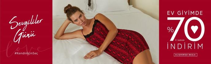 Suwen Sevgililer Günü'ne Özel Ev Giyim Ürünlerinde %70 İndirim!
