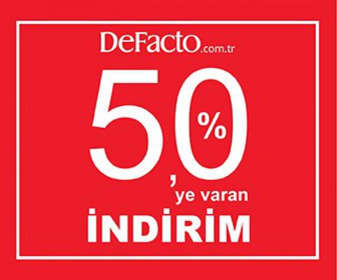 DeFacto %50 İndirim