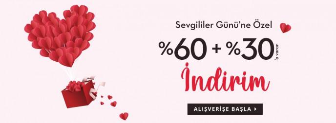 Saat&Saat'te Sevgililer Günü'ne Özel %60+%30 İndirim!