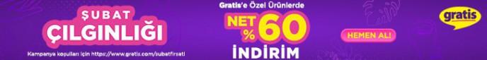 Gratis'te Şubat Çılgınlığı Başladı! Gratis'e Özel Ürünlerde Net %60 İndirim!