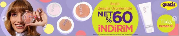 Seçili Beaulis Ürünlerinde Net %60 İndirim Gratis'te!