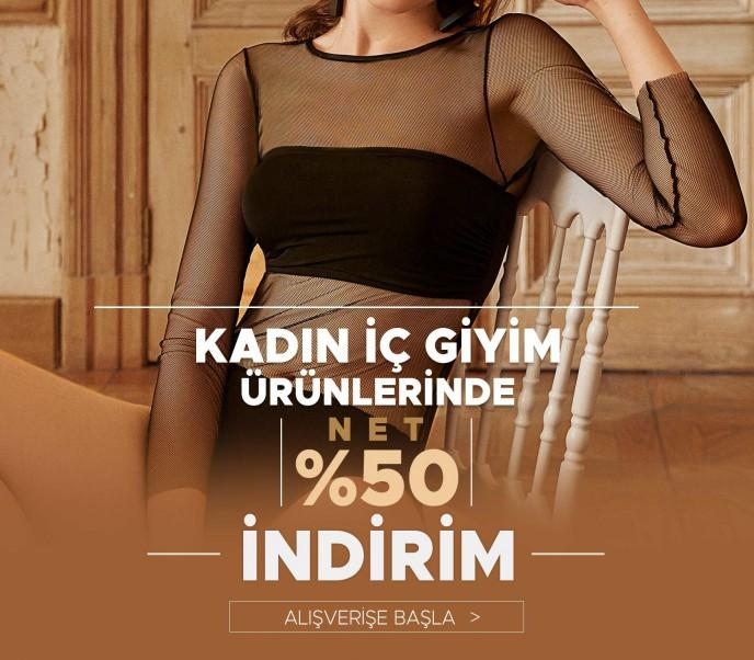 Kadın İç Giyim Ürünlerinde Net %50 İndirim Dagi'de!