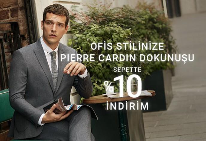 Pierre Cardin Ofis Klasiklerinde Sepette Ekstra %10 İndirim