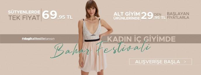 Dagi Kadın İç Giyimde Bahar Festivali Başladı