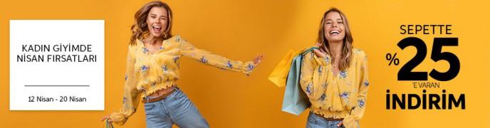 Trendyol Kadın Giyimde Nisan Fırsatları! %25'e Varan İndirimler