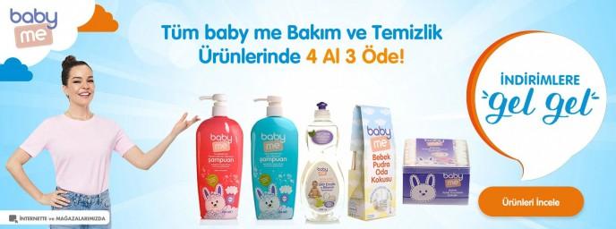 E-bebek Baby Me Bakım Ve Temizlik Ürünlerinde 4 Al 3 Öde