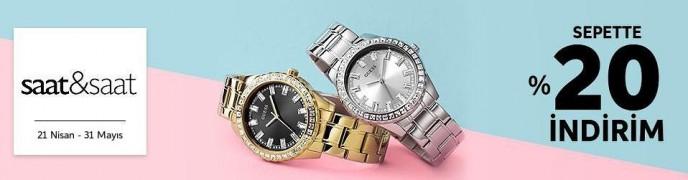 Trendyol Saat&Saat Ürünlerinde Geçerli Sepette %20 İndirim Fırsatı