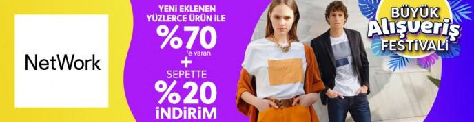 Morhipo Büyük Alışveriş Festivali: Network Ürünlerinde %70+%20'ye Varan İndirimler