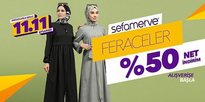Sefamerve Ferace Modellerinde Geçerli Net %50 İndirim