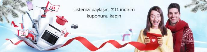 n11 Yeni Yıl Fırsatları Başladı! Listeni Paylaş, %11 İndirimi Kap