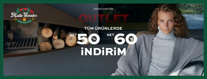 Koton'da Outlet Ürünlerde Geçerli Net %50 ve Net %60 İndirim