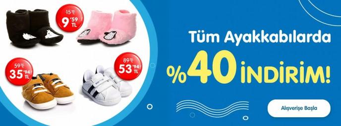 E-bebek'te Tüm Ayakkabılarda %40 İndirim!