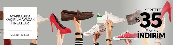 Trendyol Ayakkabı Modellerinde Sepette %35'e Varan İndirim!