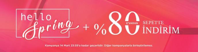 Brandroom Hello Spring İndirimleri: %80'e Varan Sepet İndirimleri