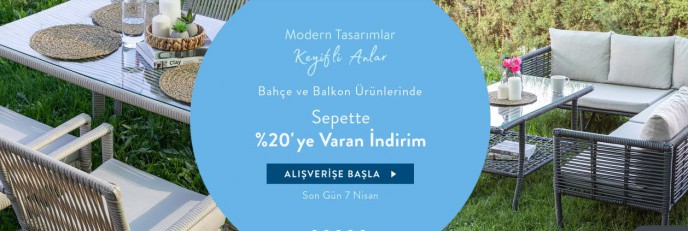 Vivense'de Bahçe ve Balkon Mobilyalarında Sepette %20'ye Varan İndirimler