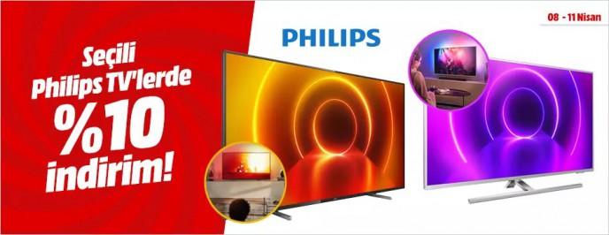 MediaMarkt'ta Philips Tv'lerde Geçerli %10 İndirim
