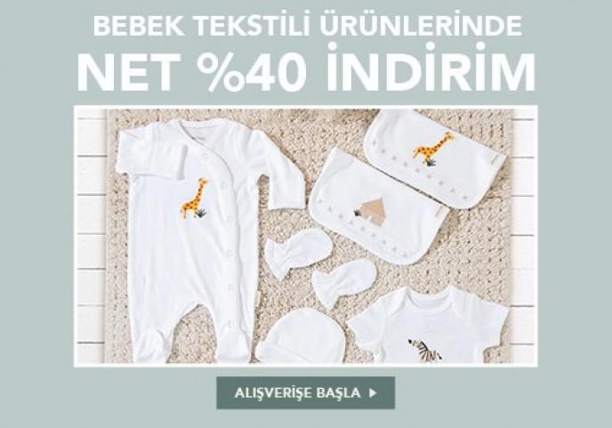 Bebek Tekstil Ürünlerinde %40 İndirim Chakra'da!