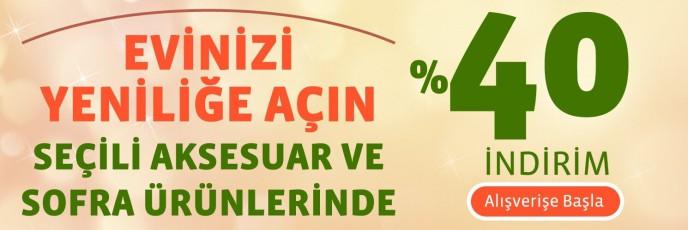 Linens Seçili Aksesuar Ve Sofra Ürünlerinde %40 İndirim