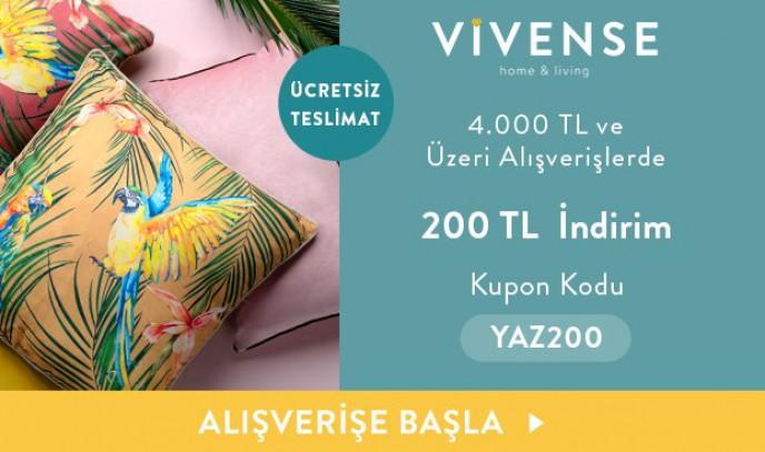 Vivense'de Kaçırılmayacak Fırsatlar! 4.000 TL ve Üzeri Alışverişlerde 200 TL İndirim + Ücretsiz Teslimat!
