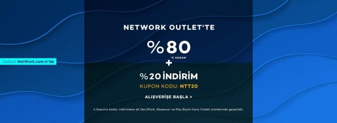 Network Outlet'te %80'e Varan + Ek %20 İndirim