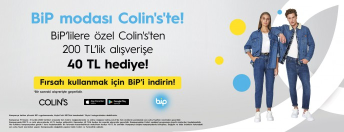 Colin's'te BİP'lilere Özel 40 TL Hediye!
