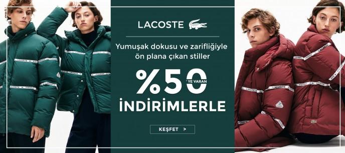 Occasion Lacoste Ürünlerinde Geçerli %50'ye Varan İndirim Kampanyası!