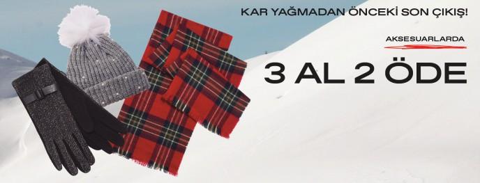 Koton'da Kış Aksesuarları 3 AL 2 ÖDE Fırsatıyla!