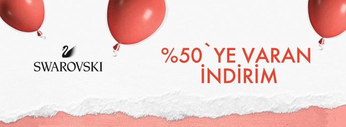 Saat&Saat'te Swarovski Ürünlerinde %50 İndirim