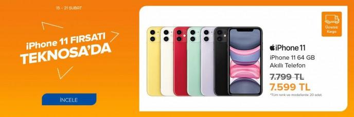 iPhone 11 Fırsatı TEKNOSA'da!