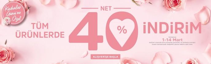 Suwen Tüm Ürünlerde %40 Kadınlar Günü İndirimi!