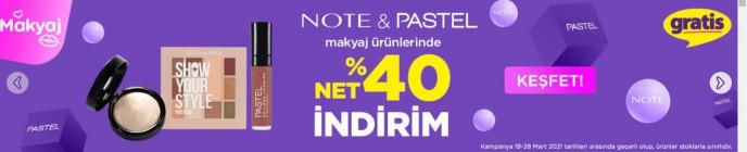 Gratis Note&Pastel Ürünlerinde %40 İndirim