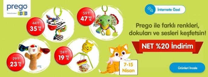 Prego Oyuncak Ürünlerinde Geçerli Net %20 İndirim ebebek'te!