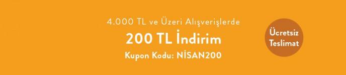 Vivense'de 4.000 TL ve Üzeri Alışverişte 200 TL İndirim Kodu