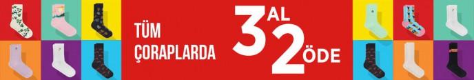 Mudo'da Tüm Çoraplarda 3 Al 2 Öde Kampanyası