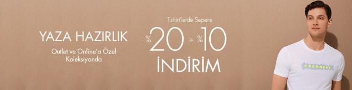Cacharel T-shirt'lerde %20 + %10 İndirim Fırsatı!