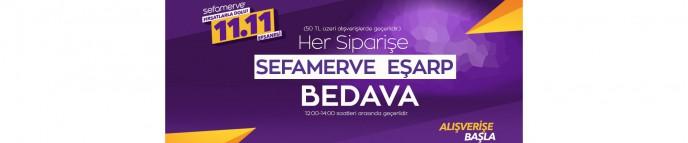 Sefamerve'de Her Siparişe Sefamerve Eşarp Bedava!