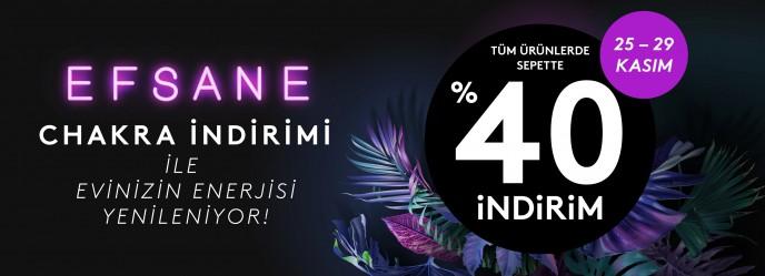 25-29 Kasım Efsane Chakra İndirimi Başladı! Tüm Ürünlerde Sepette Net %40 İndirim Fırsatı!