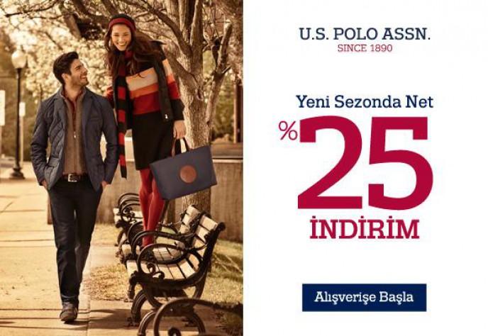 U.S Polo, Yeni Sezon %25 İndirim