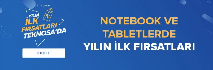 Teknosa Notebook ve Tabletlerde Yılın İlk Fırsatı!
