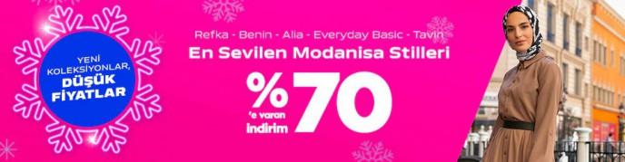 Modanisa %70'e Varan İndirimlerde Son Gün!