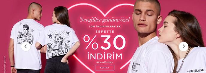 DeFacto'da Sevgililer Günü'ne Özel %30 Sepet İndirimi