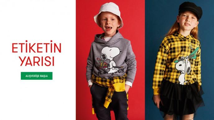 Benetton'da Etiketin Yarısı Kampanyası Başladı!