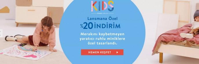 Vivense Kids Koleksiyonu'nda Lansmana Özel %20 İndirim