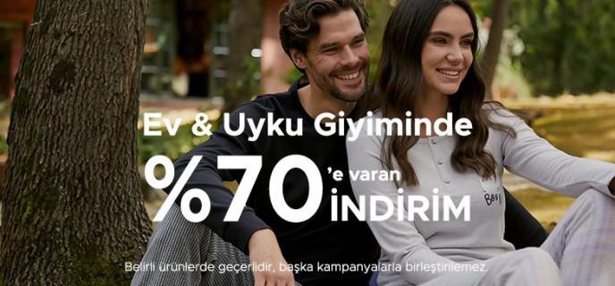 Ev ve Uyku Giyimde %70'e Varan İndirimler DAGİ'de!