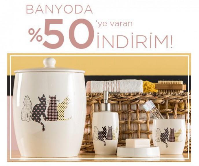 Mudo'da Banyo Ürünlerinde %50'ye varan indirim