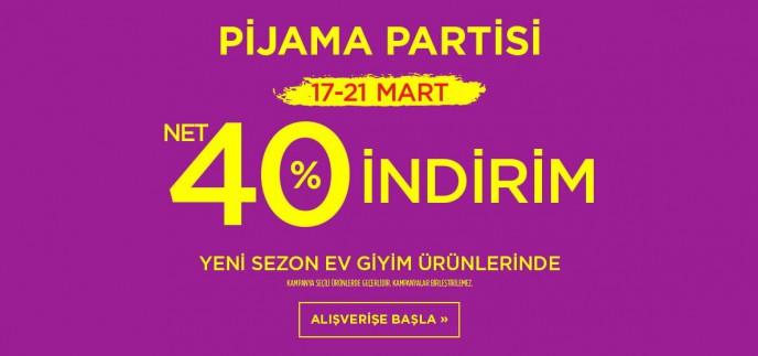 Penti Pijama Partisi'ne Özel Ev Giyim Ürünlerinde Net %40 İndirim