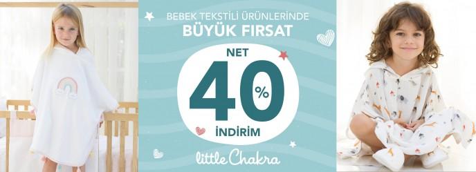 Chakra'da Bebek Tekstil Ürünlerinde Net %40 İndirim