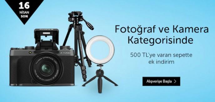 Fotoğraf Makinesi ve Kameralarda 500 TL'ye Varan Ek İndirim n11'de!