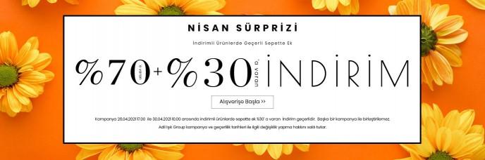 adL'de Nisan Sürprizi Başladı! %70'e Varan + %30'a Varan İndirimler